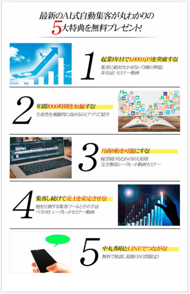 AI式自動集客戦略の5大特典